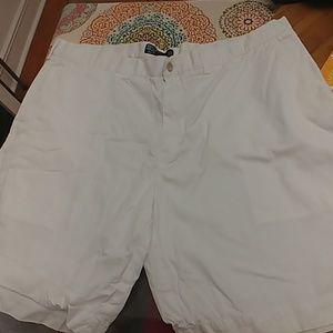 Ralph Lauren Mens size 42 white flat front shorts